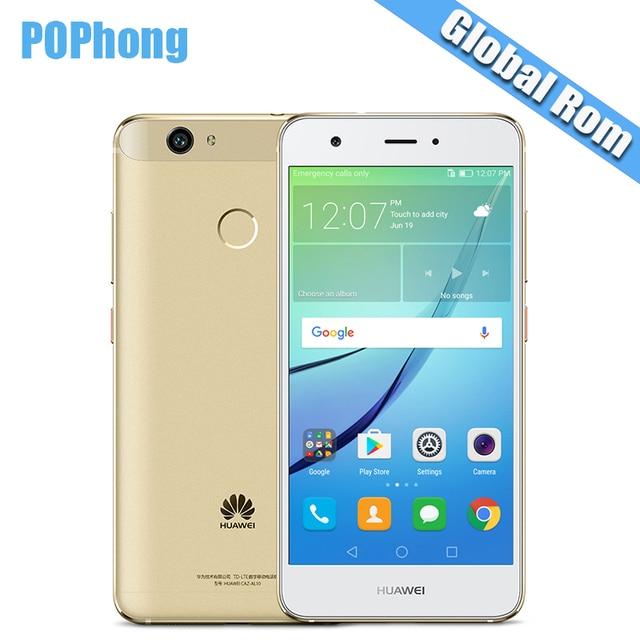 International Firmware Huawei Nova Cell Phone 4G LTE 4GB RAM 64GB ROM MSM8953 Octa Core Dual SIM