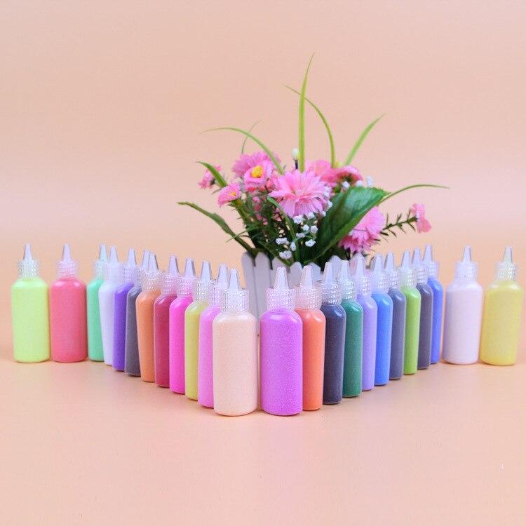 12 bouteilles 40gbouteille couleur sable pour sable peinture sable dessin art diffrentes couleurs sable mixte pour ducatifs j - Dessin Sable Color