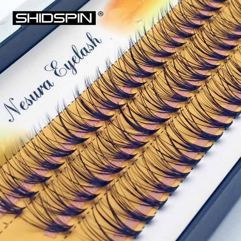 60 pieces 0.07 thickness hair C curl eyelash extension 8 10 12mm strip false eyelashes makeup individual lashes