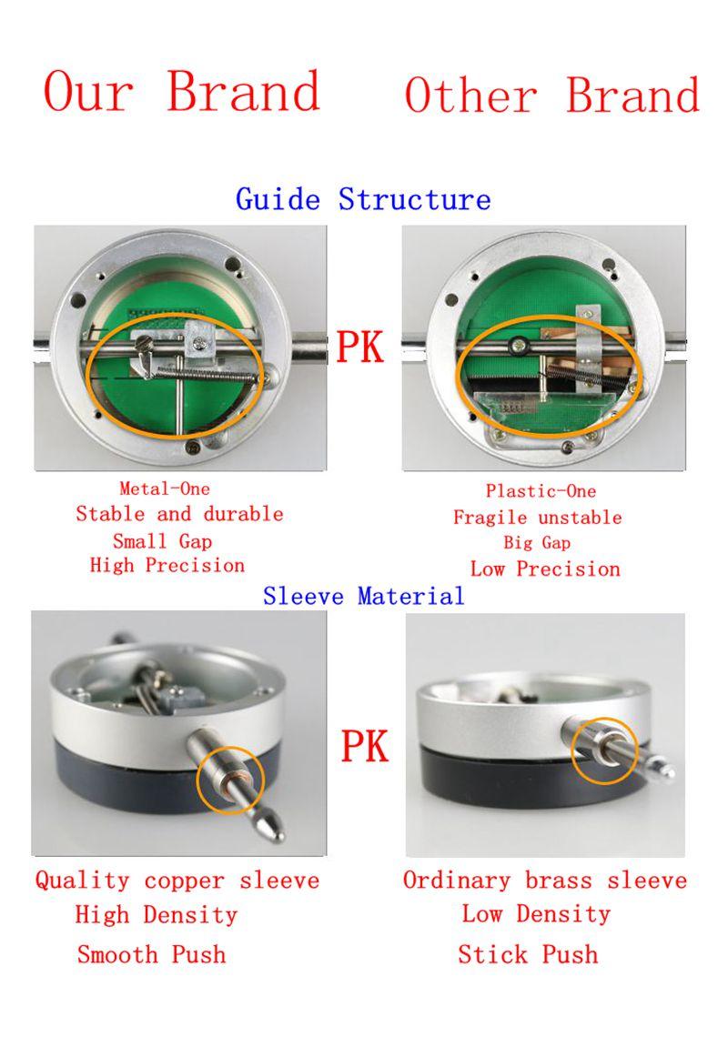 0,001 mm-es digitális tárcsa jelző pontos mikrométer 25,4 mm / 1 - Mérőműszerek - Fénykép 6