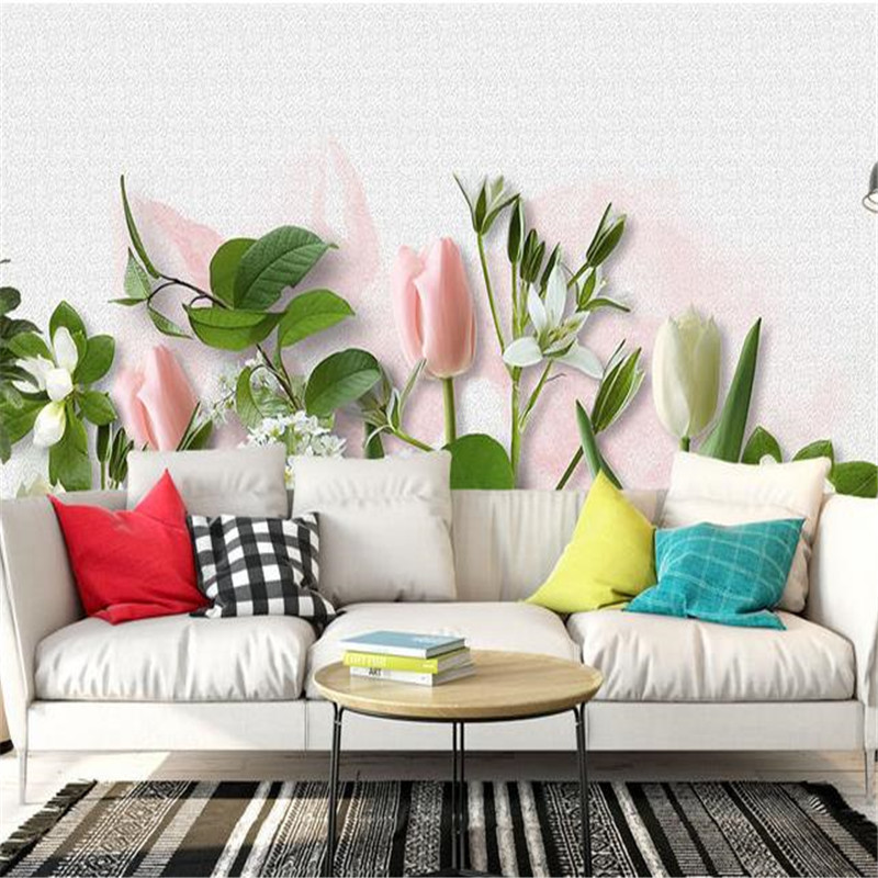 Custom 3D Photo Wallpapers Flowers Pastoral Bedroom Murals for Living Room Home Decor Nature Landscape Wall Papers fof Walls 3D shinehome sunflower bloom retro wallpaper for 3d rooms walls wallpapers for 3 d living room home wall paper murals mural roll