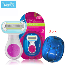 Gillette Mini Shell Venus Gillette Shaver Razor 5 Layer Women Razor Safety Shaving Manual Razor For Girl Women Snap With Embrace