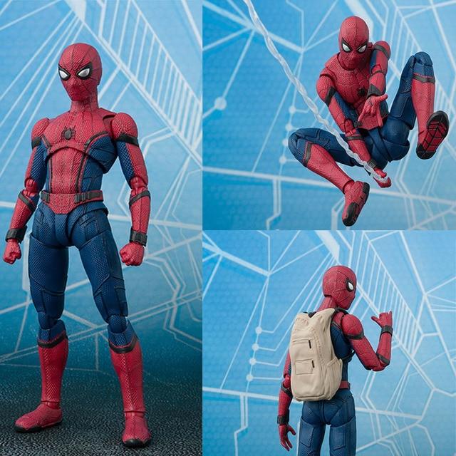 15 cm Anime Spider Man Filme SpiderMan Brinquedo Figura de Ação de Regresso A Casa Quente Diy Dispaly Brinquedos Juguetes Presente de Aniversário Das Crianças