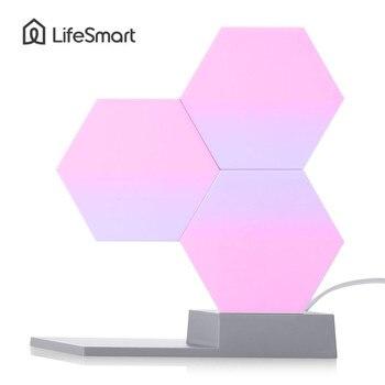 Lifesmart Quantum ночник Геометрия сборки ночника лампа с рассеянным светом Smart App дистанционного голосового управления DIY освещения >> Madeline Store