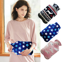 Hot Water Bottle Bag Cover Coral Fleece Cloth 1000ml Keep Warm Soft Home Relaxing Drop Shipping