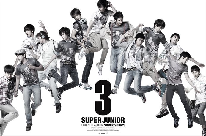 SUPER JUNIOR 3RD ALBUM SORRY SORRY VERSION C RELEASE DATE 2009-05-14 KPOP
