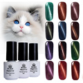 6 Bottles/Set 5ml BORN PRETTY Magnetic Cat Eyes Gel Soak Off UV Gel Polish Varnish No Black Base Needed