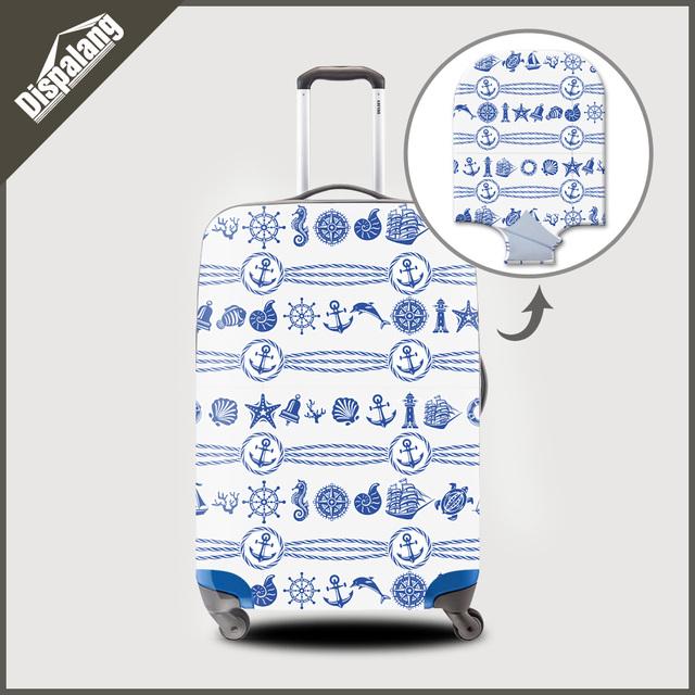 Dispalang personalizar personalizado bagagem trolley caso protetora capas para 18-30 polegada nova moda 3d impressão do mundo do mar grosso cobrir