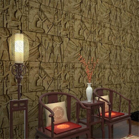 Beibehang Vintage features imitation carved Egyptian pattern room escape wallpaper realistic character art film wall paper