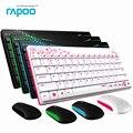Водонепроницаемый Оригинал Rapoo X220 2.4 Г Мультимедиа Мини Беспроводная Клавиатура и Мышь Комбинированные для ПК Mac Ноутбуки Настольные Компьютеры геймер
