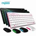 Impermeable original x220 rapoo 2.4g multimedia mini teclado inalámbrico y ratón combo para pc mac laptops desktops gamer