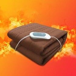 150*75 cm  220V podgrzewany koc elektryczny elektryczny materac termostat koc elektryczny bezpieczeństwa grzejący koc elektryczny w Grzejniki elektryczne od AGD na