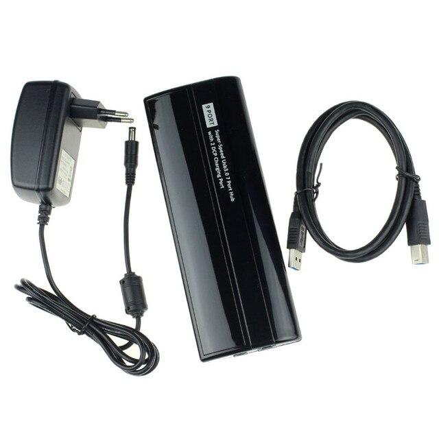 Падение shippingSimpleStone USB3.0 7 Портовый Концентратор + 2 USB DCP Загрузочного люка + Адаптер Питания Для Портативных ПК 60331