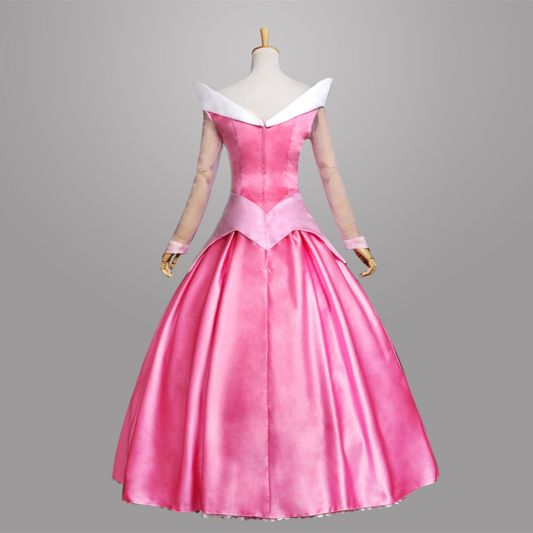 Adult Women Girl kids Princess Dresses Pink Anime Sleeping Beauty ...