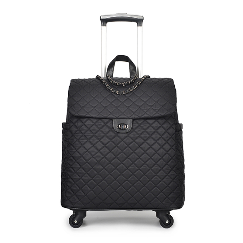 Universal wheel travel bag suitcase carry on trolley bag fixed cabin Trolley luggage bag girl women