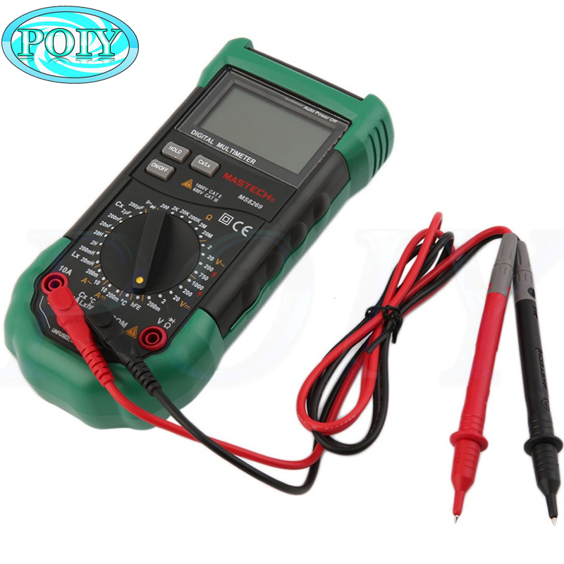 Mastech brand MS8269 3 1 2 Digital Multimeter AC DC Voltage Current Resistance Capacitance LCR Meter