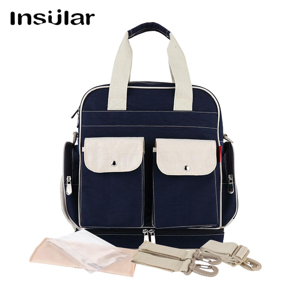 Insular Baby Bag for Mom Waterproof Backpack Diaper Bag for Wheelchairs Stroller Large Capacity Mochila Maternidade