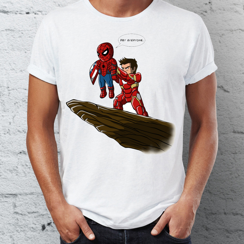 4080076b21 Men's T Shirt Spiderman Homecoming Ironman Stark Pride Rock Marvel  Superhero Funny Tee