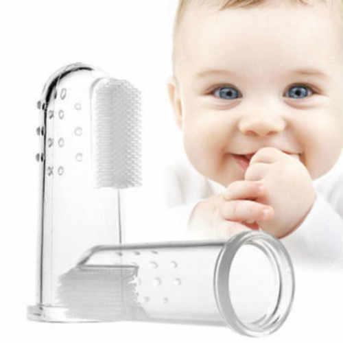 Cepillo de dientes de silicona suave para niños y bebés