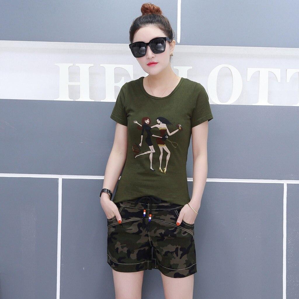 femmes d 39 t de militaire uniforme clothing vert d 39 arm e t shirt fille imprim manches courtes. Black Bedroom Furniture Sets. Home Design Ideas