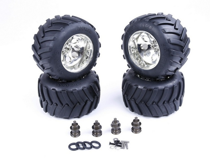 цены Modified Bigfoot tire assembly kit 1 For 1/5 losi 5vie-T SLT BAJA 4WD rc car parts