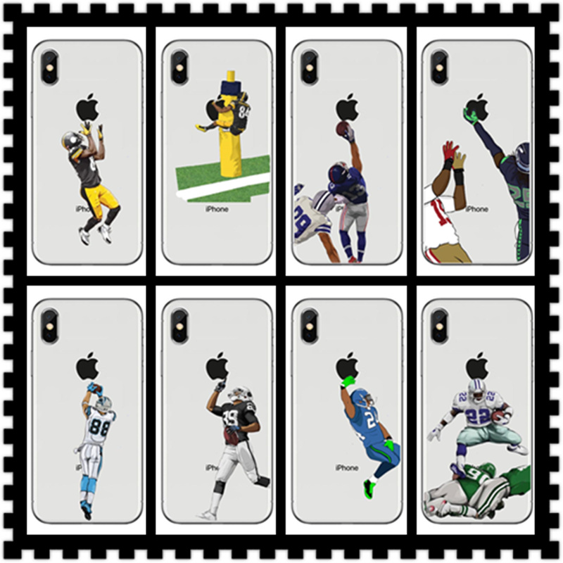 Soccer NFL Rugby Odell Phone Case American Football Playerk Cover For iPhone X 8 8Plus 7 6 6Plus 5S SE Soft silicone Cases