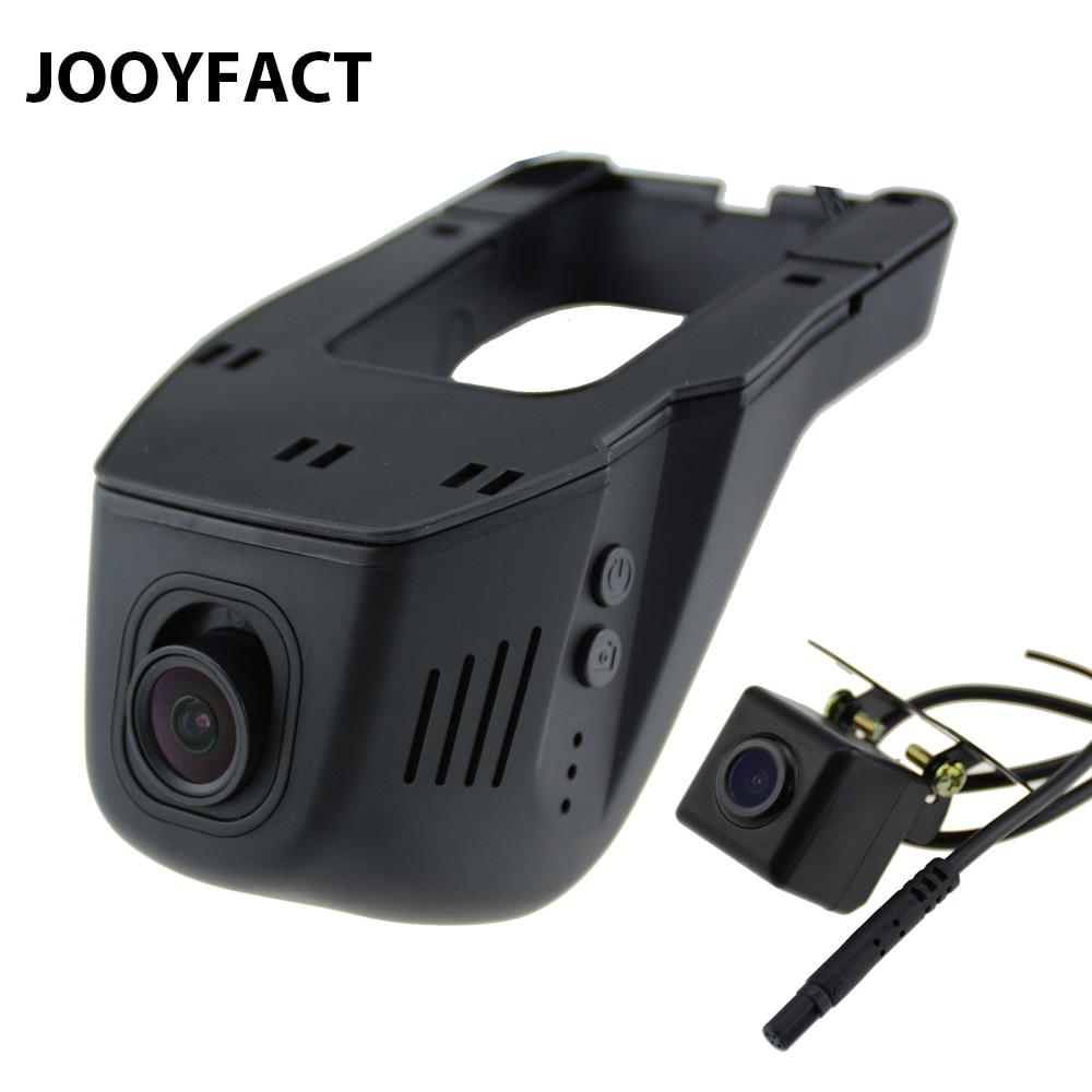 Jooyfact A5 car DVR DVRs registrator Dash Cámara Digital Video Grabadora de doble lente de visión de la videocámara 96658 IMX 323 wifi