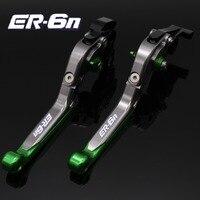 Laser Logo ER 6N CNC Motorcycle Brake Clutch Levers For Kawasaki ER 6N ER6N ER 6N