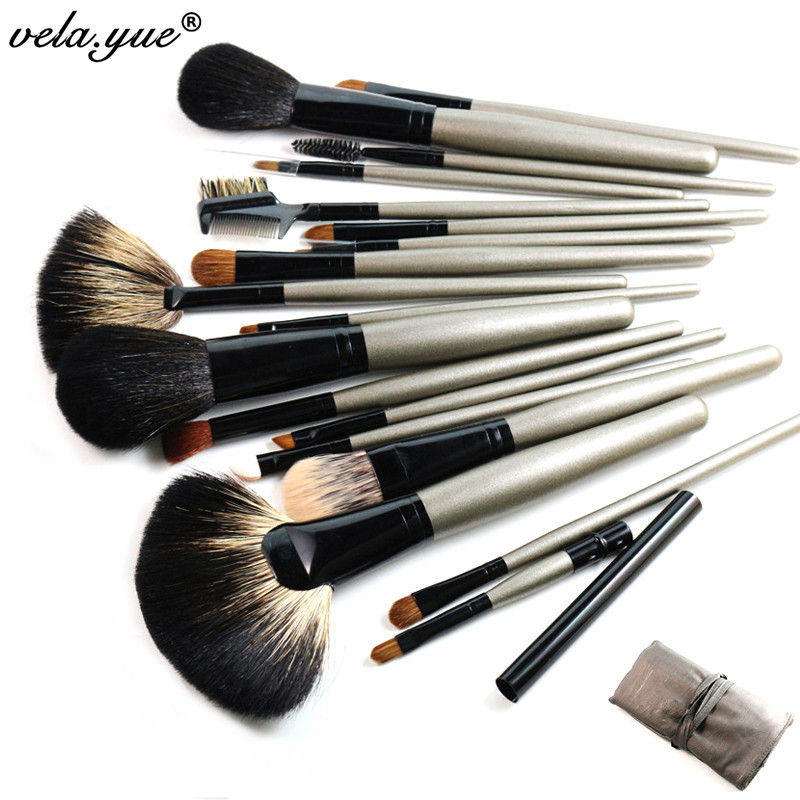 Aliexpress.com  Buy 18Pcs/Set Makeup Tools Kit Professional Nature Hair Makeup Brushes Set Free ...