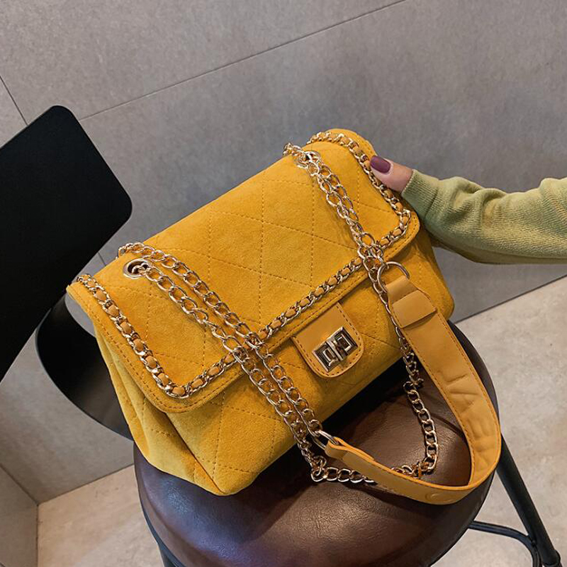 Vintage Classic Plaid Female Tote Bag 2019 New Quality Matte Leather Women's Designer Handbag Lock Chain Shoulder Messenger Bags