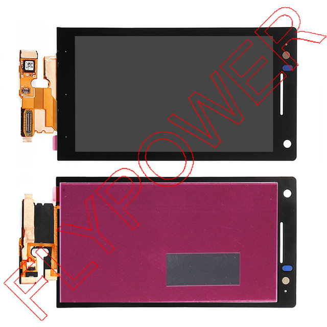 For Sony Ericsson Xperia S LT26 LT26i LCD display  with touch screen digitizer full assembly by free shipping; 100% warranty