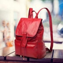 100% гарантия Настоящее Пояса из натуральной кожи Для женщин рюкзак корейский стиль из мягкой коровьей кожи Для женщин Дорожные сумки в консервативном стиле школьная сумка