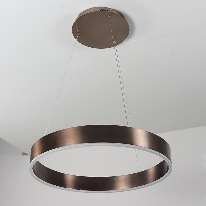 Modern LED Ring Circle Light Black Brown Ceiling Suspended Pendant Light For Living Room Bedroom Dining Room Shop Office цена 2017