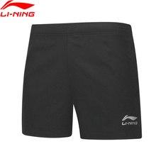 Li-Ning мужские шорты для настольного тенниса, дышащие, Стандартная посадка, командная одежда, подкладка, базовые спортивные шорты для соревнований, AAPP075 CAMJ19