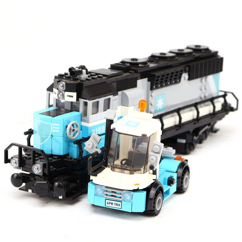 LEPIN 21006 1234Pcs he Technic Series truck Model Building Kits Blocks Bricks for child birthday Educational Toys Model 10219 lepin 21006 compatible builder the maersk train 10219 building blocks policeman toys for children