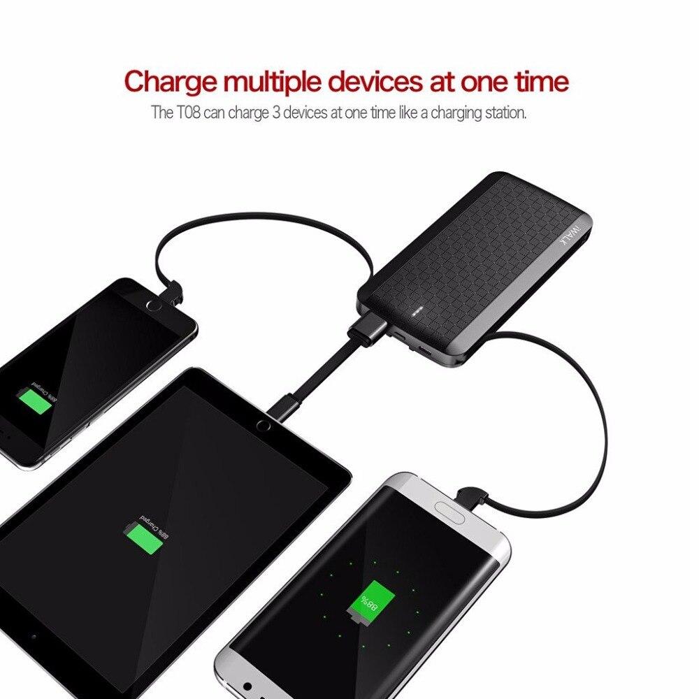 imágenes para MiLi iWalk 8000 mah Powerbank Banco de Potencia con MFI Cable Micro de 8 Pines usb 2.4A para el iphone 7 6 S 6 iPad Samsung Huawei 5S Android