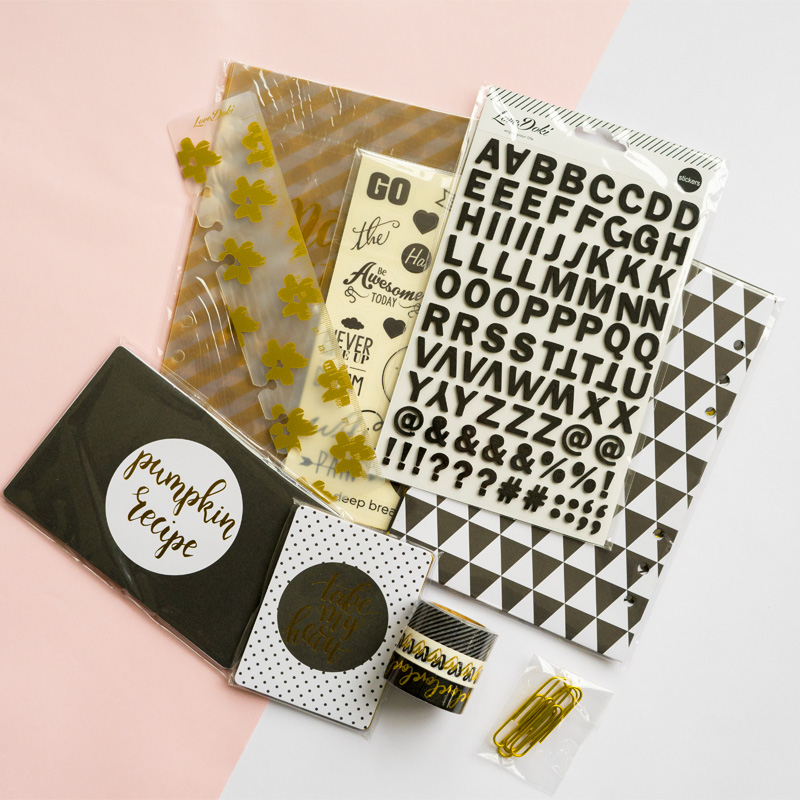 Lovedoki Notebook sticker masking tape clips planner dividers gift Stationery kit Diary book decoration DIY tool school supplies kitave11992unv10200 value kit avery index maker clear label contemporary color dividers ave11992 and universal small binder clips unv10200