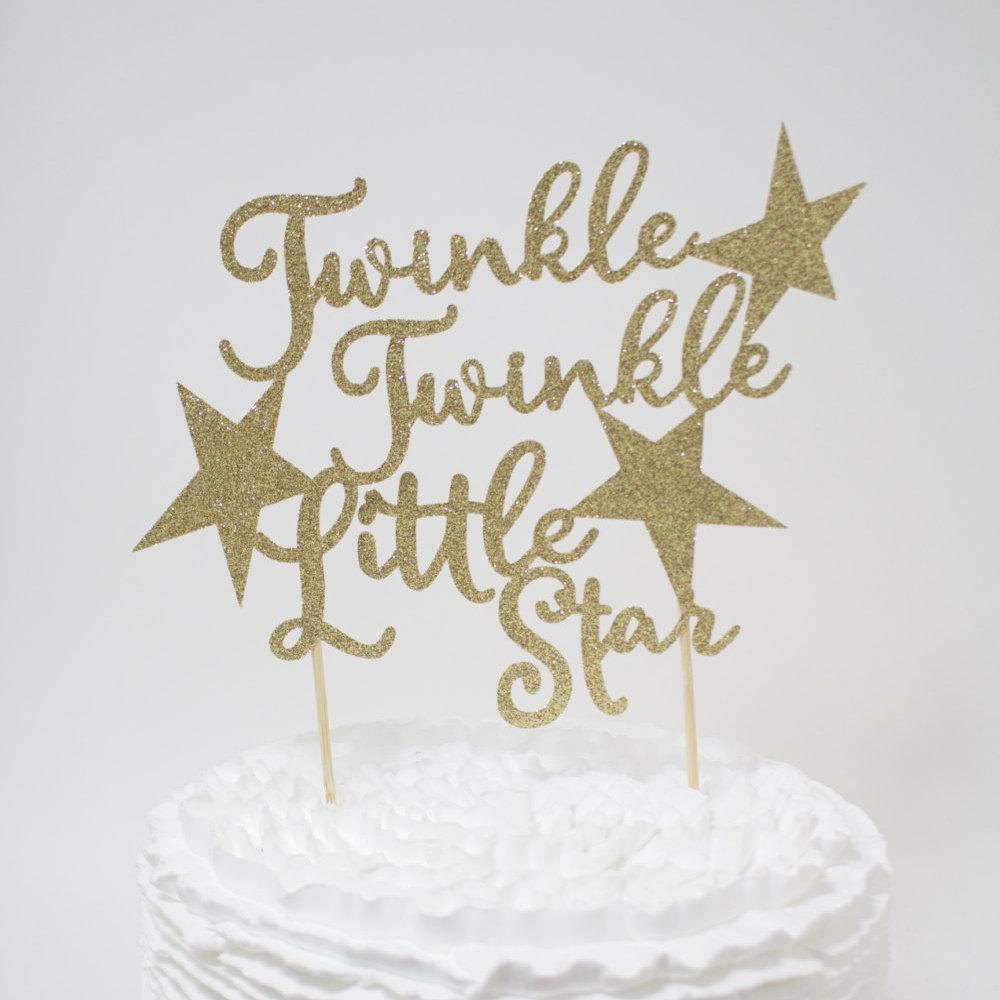 Twinkle twinkle Little star cake topper Baby Shower First Birthday