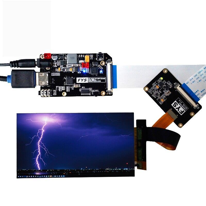 5.5 pouces 2 k LCD Module LCD Écran Affichage et HDMI-MIPI Pilote Conseil Pour Wanhao Duplicateur 7 Photon 3D Imprimante VR Verre