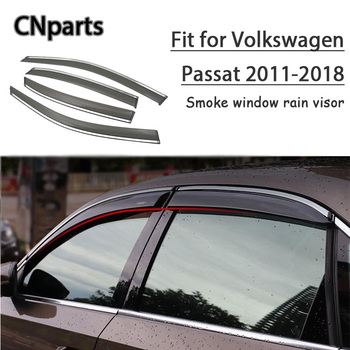 CNparts 4pcs ABS For Volkswagen Passat 2011 2012 2013-2018  Car Smoke Window Visor Keep  Fresh Air  convection Accessories