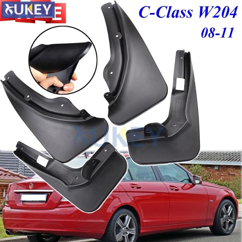 Accessories Set Mud Flap Flaps For Benz C Class C Class C250 C350 W204 2008 2009
