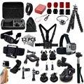 Gopro accesorios go pro kit de montaje para sj4000 gopro hero 5 4 3 2 negro edición sjcam sj5000 cámara caso xiaoyi pecho trípode