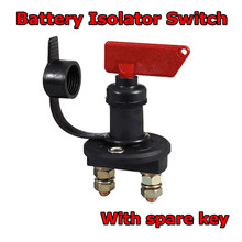 Battery Disconnect Switch Power Isolator Cut Off Kill Switch + 2 Removable Keys For Truck Boat Car Marine ATV Car Accessories 200a battery disconnect kill cut off switch car boat truck 12v
