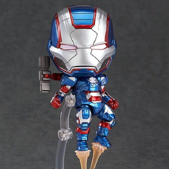 SAINTGI Iron man 3 Q MK42 Patriots Avengers Marvel Figures Face Transplant PVC 10cm #392 Magic Animation Globos