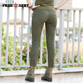 Freearmy Brand New Arrival Vintage Women Pants Casual Skinny pants Female Military Army Green Pants Free Shipping GK-9520A