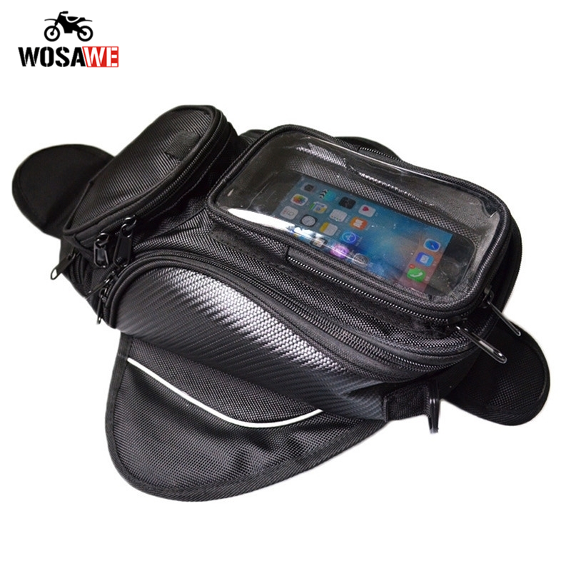 Motorcycle Tank Bag Waterproof Motorbike Oil Fuel Saddle Bag Magnetic Shoulder Bag Phone Case For IPhone