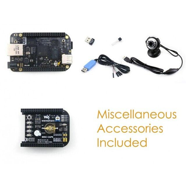 US $97 99 |BB BeagleBone Black ARM Cortex A8 Rev C Development Board 4GB  eMMC + MISC Cape + USB WIFI + Camera = BeagleBone Black Package E-in Demo