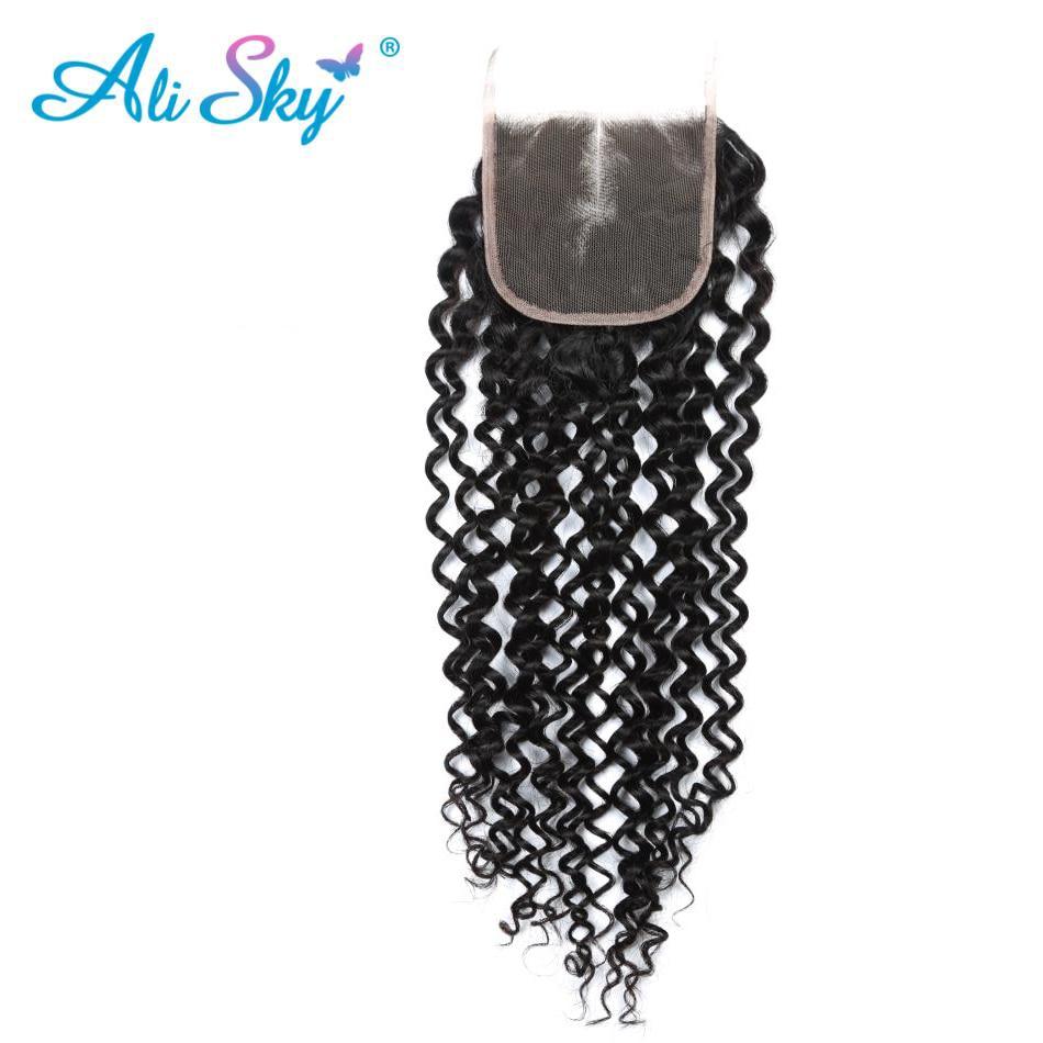 Ali Sky brasilianska afro Kinky Curly Hair Weave 4 Buntar Med - Mänskligt hår (svart) - Foto 5