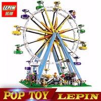 חדש Lepin לבני בלוק מודל הרכבת בניית גלגל ענק 15012 עיר מומחה legoed תואם עם צעצוע חינוכי 10247