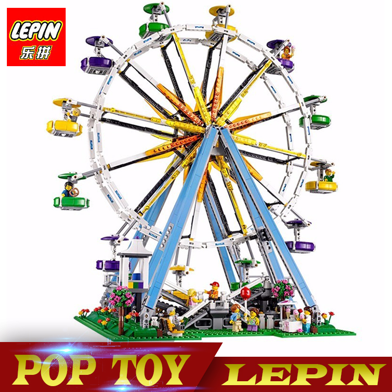 New Lepin 15012 City Expert Ferris Wheel Model Building  Assembling Block Bricks Compatible legoed with 10247 Educational Toy 2478pcs lepin 15012 city expert ferris wheel model building kits assembling block bricks compatible with 10247 educational toys